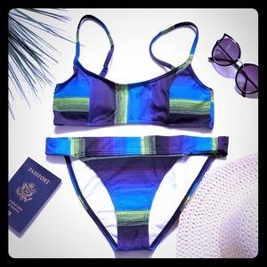 NWT adorable striped bikini